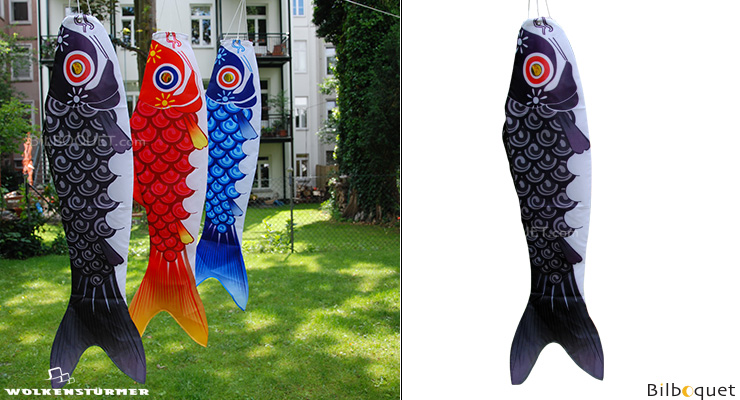 Koi Fish Windsock - Black Wolkenstürmer
