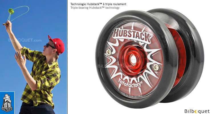 YoYoFactory Hubstack - Triple bearing Yo-yo black/red YoYoFactory
