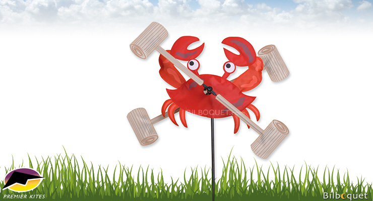 Outdoor Deco WhirliGig Spinner Crab 30cm Premier Kites & Designs