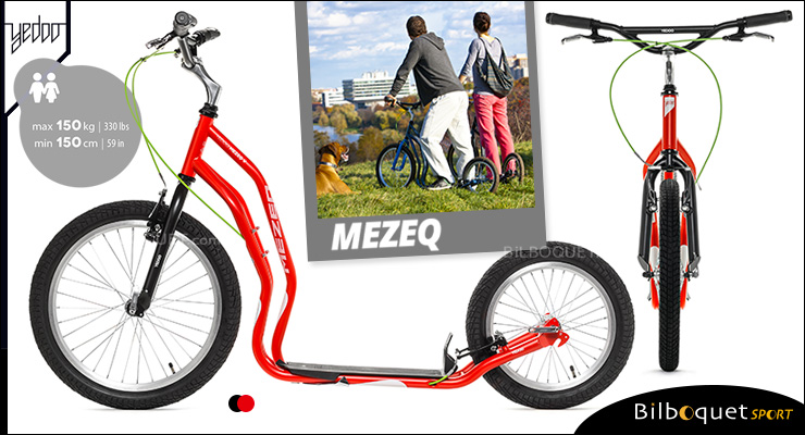Mezeq II Scooter 14+ - RED/BLACK Yedoo