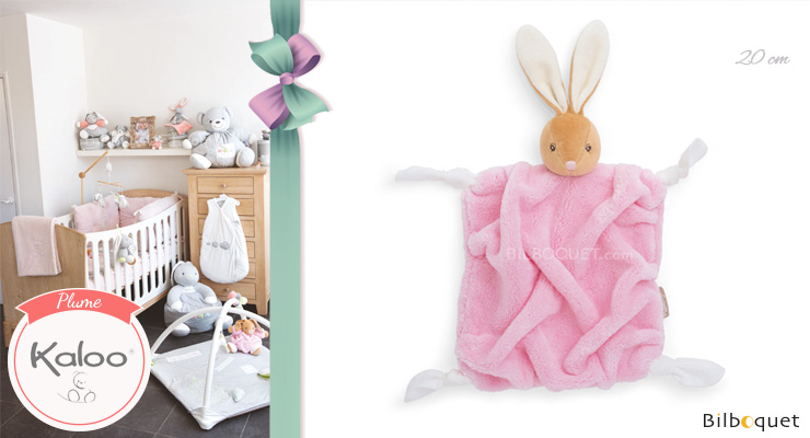 Light pink rabbit doudou - Plume by kaloo Kaloo