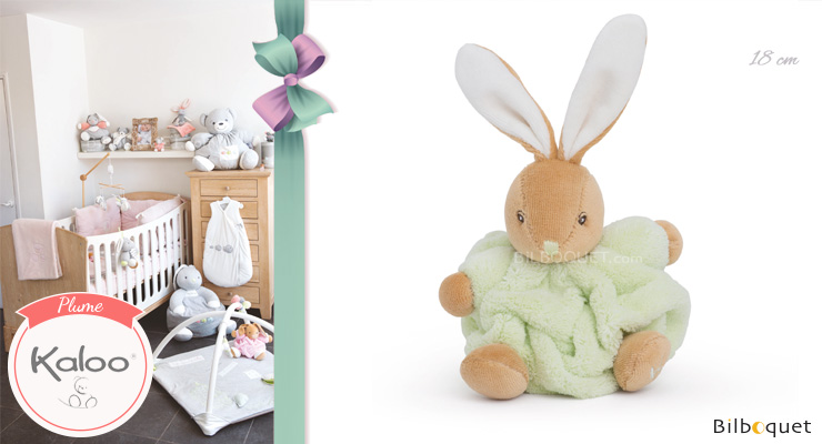 Small Chubby rabbit green - Plume by Kaloo Kaloo