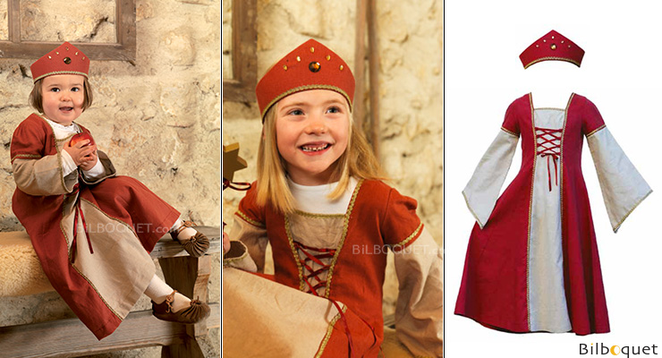 Little Marian Dress with crown - 7-9 years Costume for kids