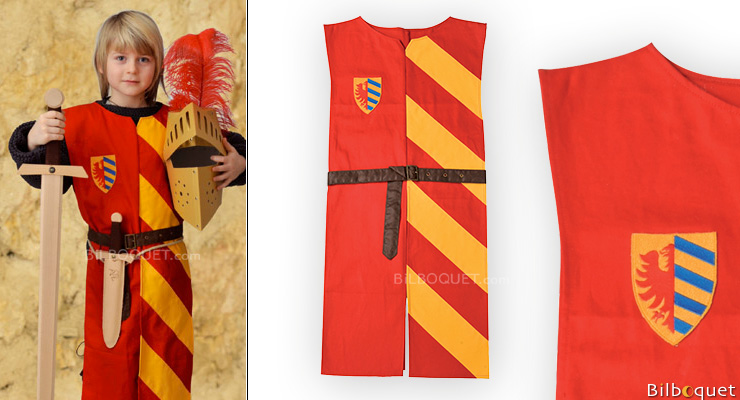 Lancelot Tunic red/yellow - 5-10 years Costume for kids