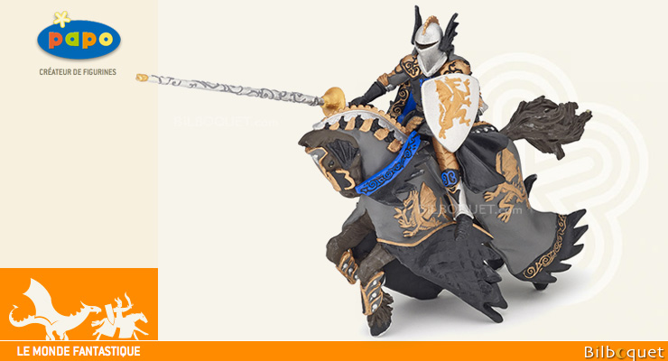 Prince noir au dragon et son cheval - Figurines Papo Papo