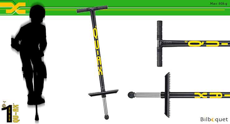 Pogo Stick for rider up to 80kg BLACK QU-AX