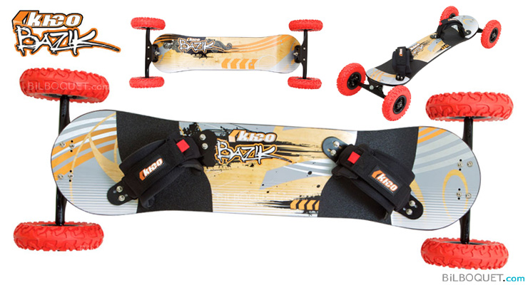 Kheo Bazik Mountainboard avec roues 9 pouces Kheo Mountainboards