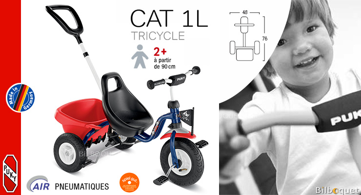 Tricycle Puky 1L Capt'n Sharky (2 ans et +) Puky