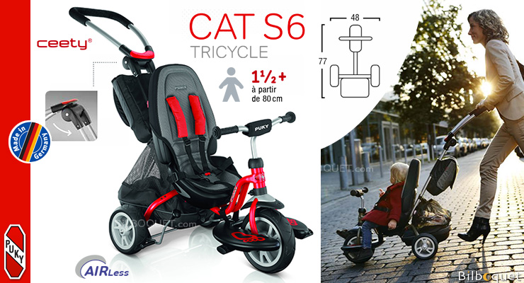 Tricycle Puky CAT S6 Ceety® - Rouge - Dès 18 mois Puky