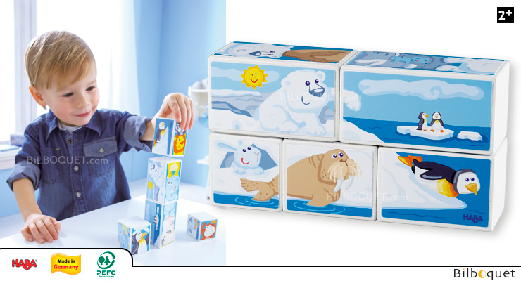 Picture Cubes puzzles Zoo Animals Haba