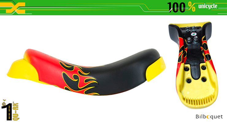 Luxus Saddle - Flame Pattern - Unicycle Accessory QU-AX