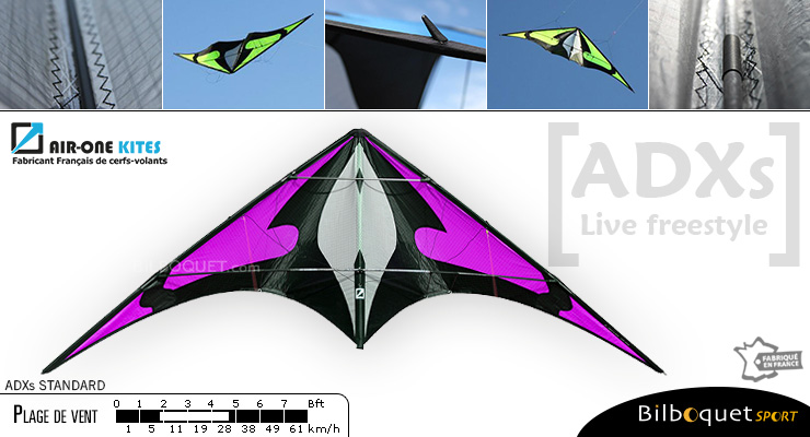 ADXs Standard - Freestyle Stunt Kite Purple Air-One Kites