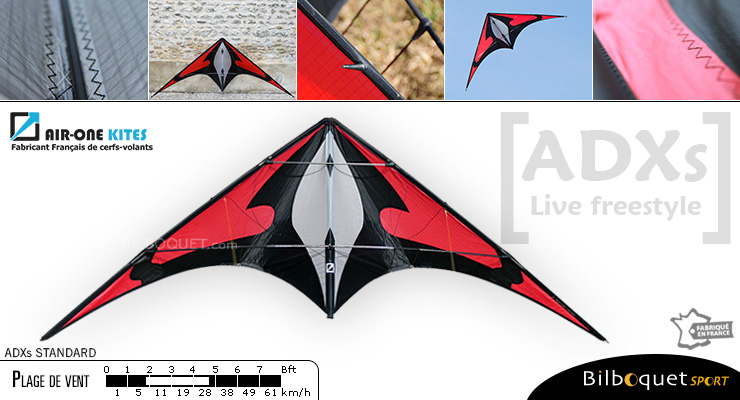 ADXs Standard - cerf-volant de freestyle Rouge Air-One Kites