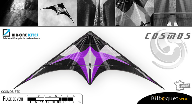 Cosmos STD - Freestyle Stunt Kite Purple Air-One Kites