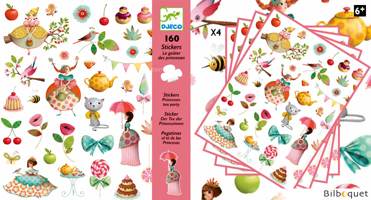 Princess Tea Party - 160 Stickers Design By Marie Desbons Djeco
