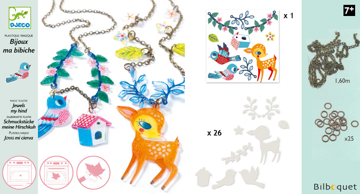 Magic plastic Fawn and Bird Jewels Design By Djeco