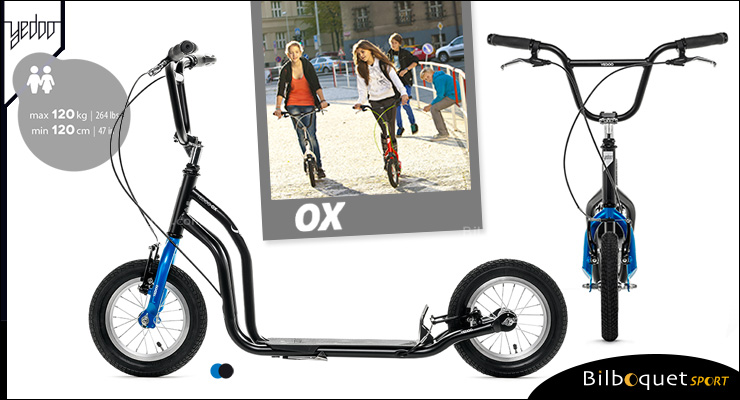 OX II Fun Scooter for teens/adults - BLACK/BLUE Yedoo