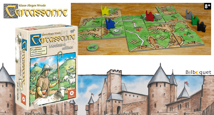 9th Expansion for game Carcassonne Filosofia