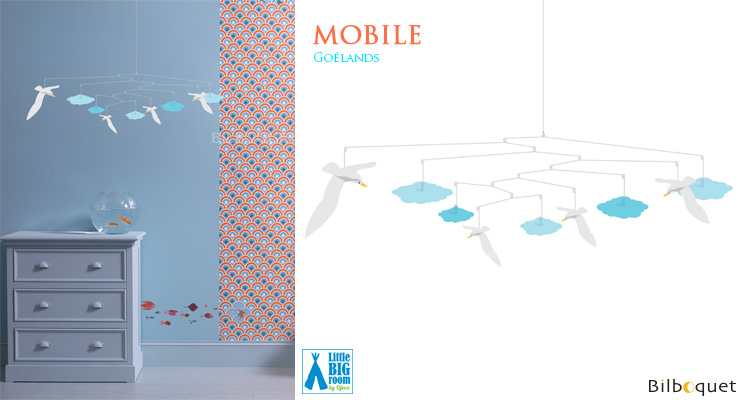 Seagulls Mobile - Kids Room Deco Little Big Room by Djeco