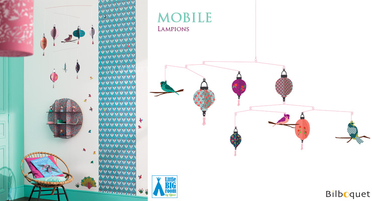 Mobile Lampions - Déco pour chambre d'enfant Little Big Room by Djeco