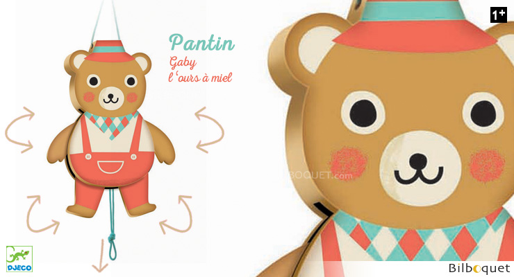 Pantin Gaby l'ours Djeco