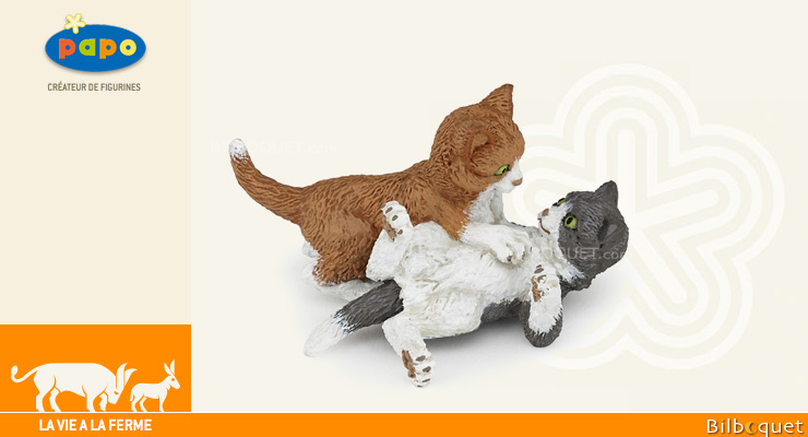 Playing Kittens - Toy Figurine Papo