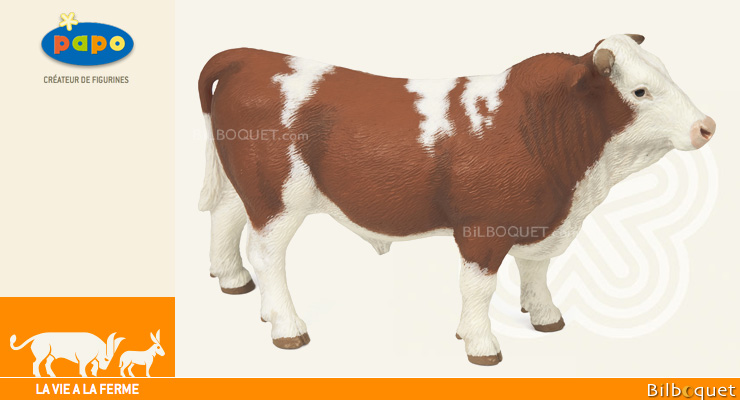 Simmental Bull - Farm Animal Papo