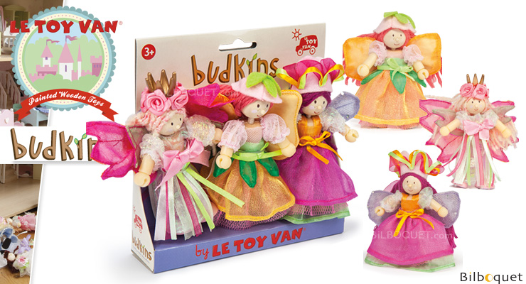 Garden Fairies Gift Pack - Budkins mini Dolls Le Toy Van
