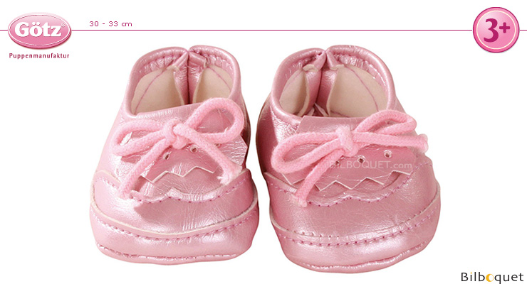 Pink Moccasins Shoes - Clothes for dolls 30-33 cm Götz Dolls