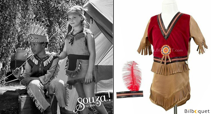 Sihu American Indian - Costume for Girl ages 5-7 Souza for kids