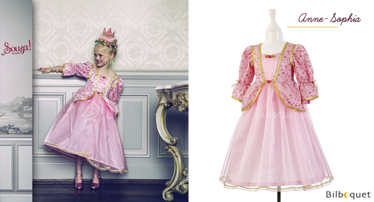 Anne-Sophia Dress - Costume for Girl ages 8-10 (128-140 cm) Souza for kids