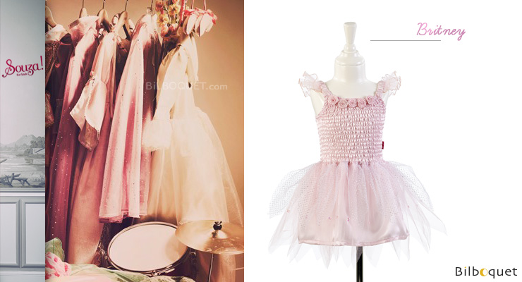 Pink Dress Britney - Costume for Girl ages 3-4 (98-104cm) Souza for kids