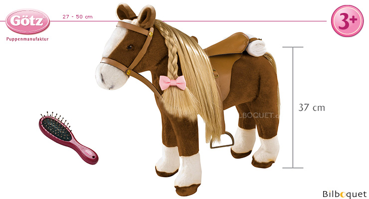 Horse to style, with saddle and headstall - Götz Götz Dolls