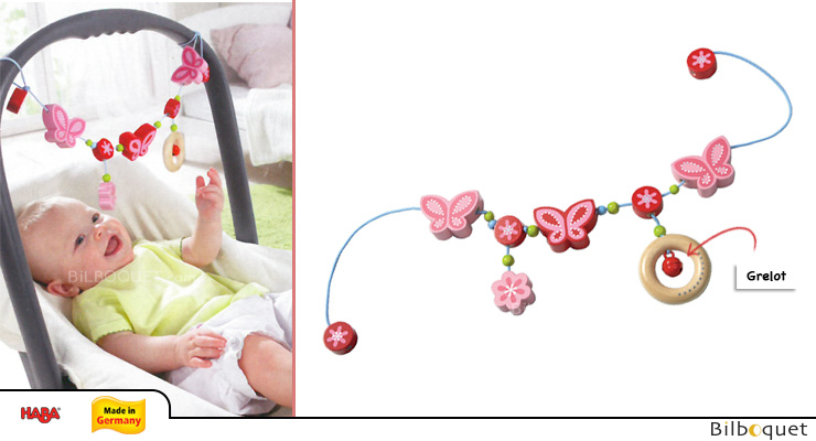 Pram Chain Butterfly Charm Haba