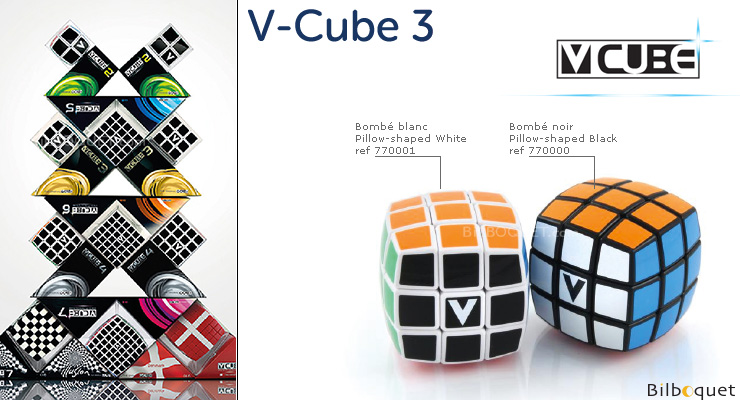 V-CUBE™ 3 Pillow-Shaped - Black V-CUBE