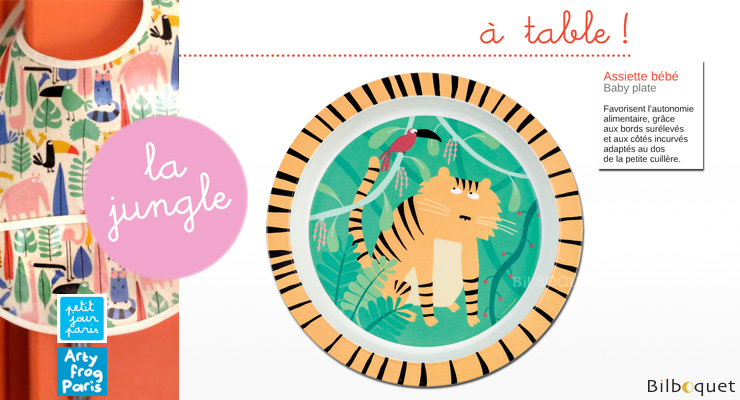 Baby Tiger Plate - The Jungle Petit Jour