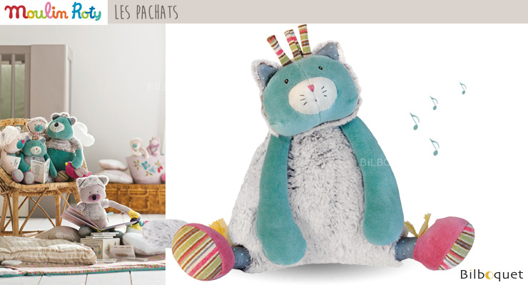 Peluche musicale Chat - Les Pachats Moulin Roty