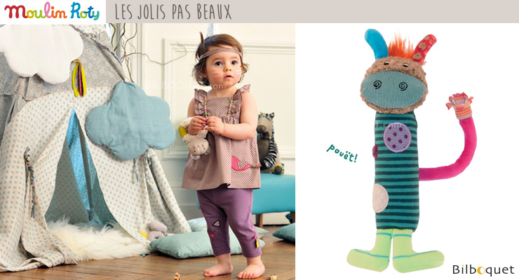 Squeaky Baby Toy - Les Jolis pas Beaux Moulin Roty