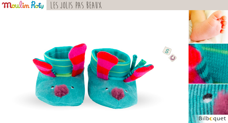 Dog Baby slippers - Les Jolis pas Beaux Moulin Roty