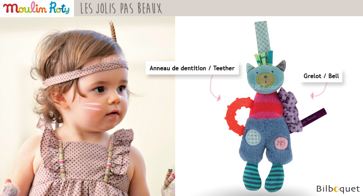 Doll with teething ring - Les Jolis pas Beaux Moulin Roty