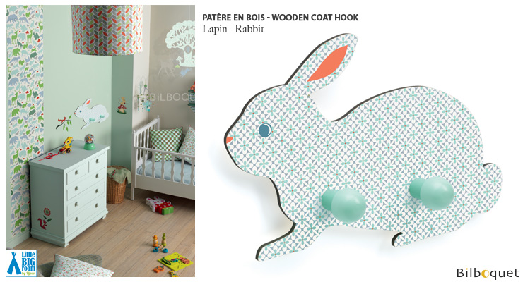 Patère en bois Lapin - Little Big Room Little Big Room by Djeco