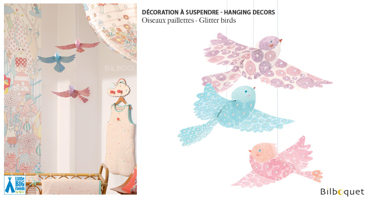 Glitter birds Decors Little Big Room by Djeco