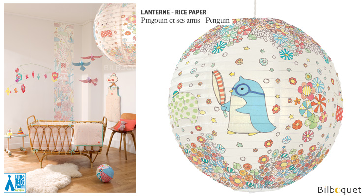 Lanterne en papier Pingouin & ses amis Little Big Room by Djeco