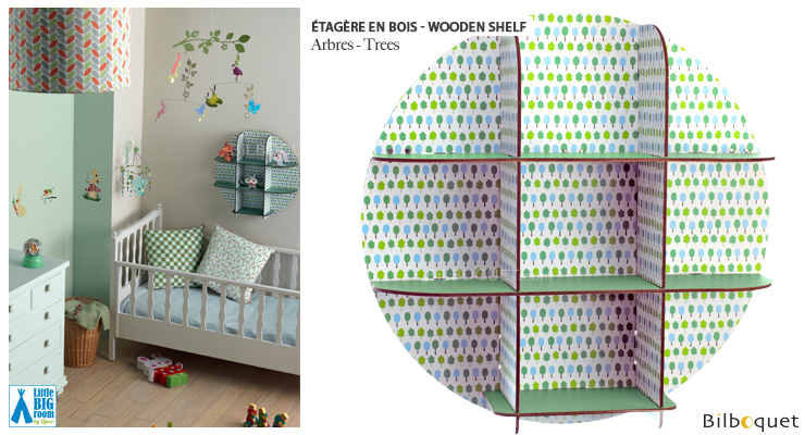 Wooden Shelf Trees - Little Big Room Little Big Room by Djeco