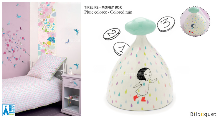 Money Box Colored rain - Little Big Room Little Big Room by Djeco
