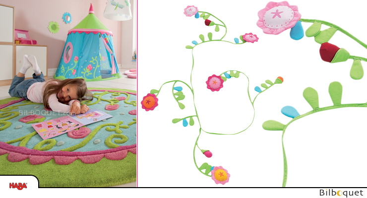 Fabric garland Flower Bower Haba