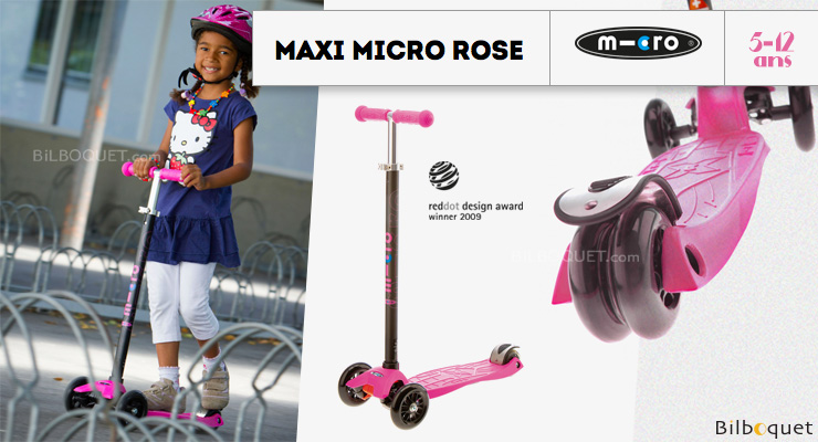 Maxi Micro Pink - Scooter for ages 5-12 Micro Mobility Scooters & Kickboards