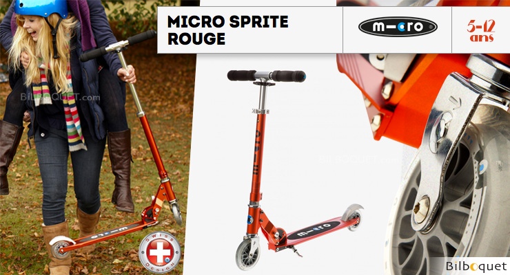Micro Sprite Red - Scooter for ages 5-12 Micro Mobility Scooters & Kickboards