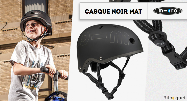 Casque enfant Noir Mat - Taille M Micro Mobility Scooters & Kickboards