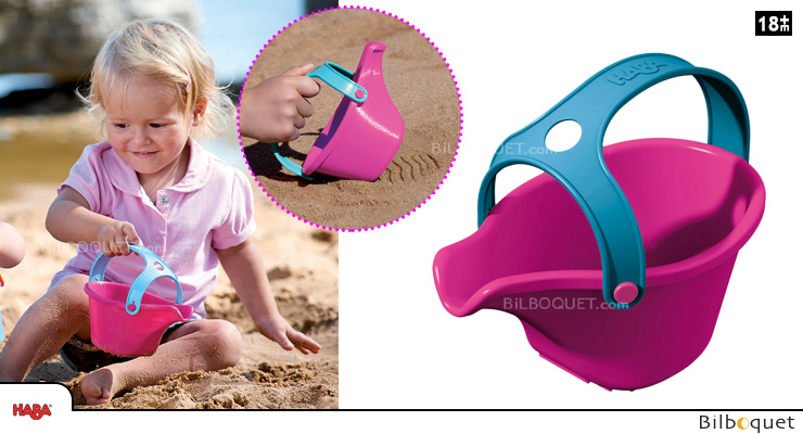 Infant Watering Can Pink - Sand play/Water game Haba